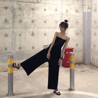 🚚 Black tube jumpsuit