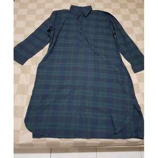 BIG SIZE Dark Blue Dress