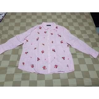 BIG SIZE Pink Mix Shirt