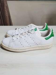 Authentic Adidas Originals white and green Stan Smith Trainers