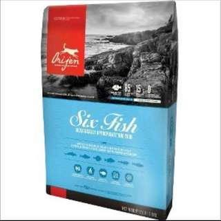 🚚 Origin six fish dry food 6kg