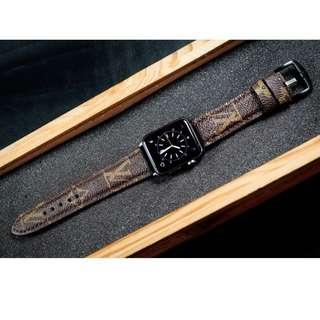 LV Leather Watch Strap for Apple Series 4