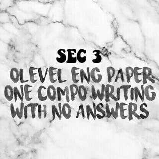 olevel eng p1 compo questions w no answer scheme