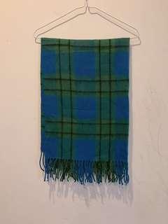 🚚 超飽和蘇格蘭藍綠配色流蘇保暖圍巾