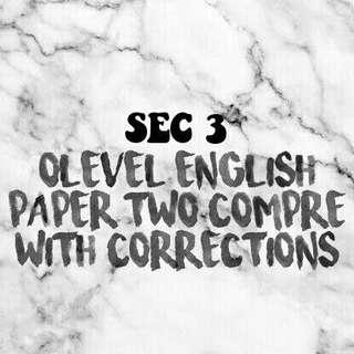 olevel p2 compre w corrections