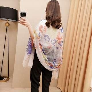 🔥Buy4Get1Free🔥Premium Silk Scarf Travel Holiday Shawl By Free Courier Delivery Only
