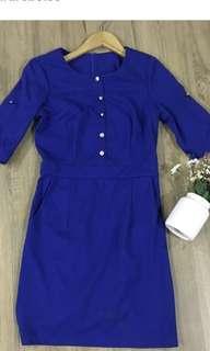 Blue dress/ OL dress / working dress