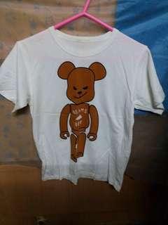 bear 白色 T Shirt