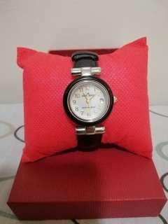 Orig Anne Klein Mother of Pearl Leather Watch