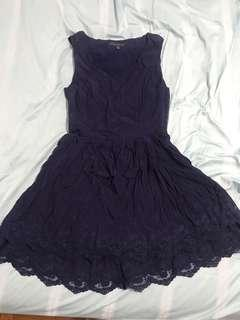 Forever New Dark Blue Lace Dress