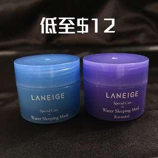 Laneige water sleeping mask original or lavender 水亮補濕睡眠面膜 普通 或 薰衣草 15ML