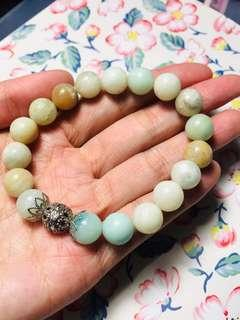 10mm 瑪瑙串珠手鏈 / 10mm agate beaded bracelet