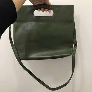軍綠色手袋
