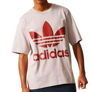 adidas originals ac boxy t-shirt 五分袖 灰紅色