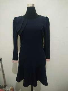 Korean formal blue dress