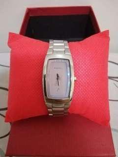 Orig Fossil F2 ES9727 Silver Tone Watch