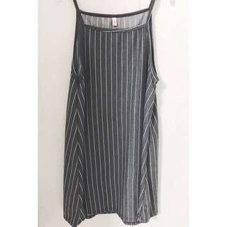 🚚 Grey Stripes Dress