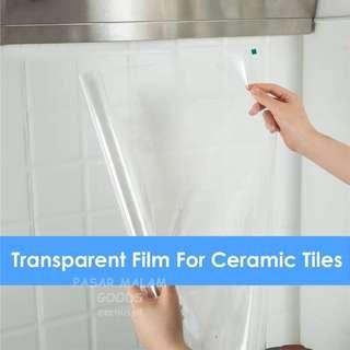 🚚 Instock Transparent Protective Film For Kitchen Tiles Table Window Cabinets