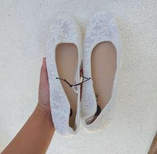Solemate White Doll Shoes