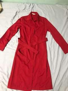Karimadon Red Long Trench Coat