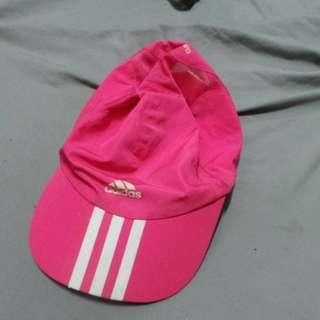ADIDAS 帽子 網球帽 遮陽帽 桃紅色