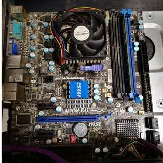 MSI 880GM-E41 + AMD Athlon II X4 635 + Kingston DDR3 8G