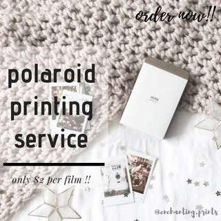 🚚 Polaroid printing