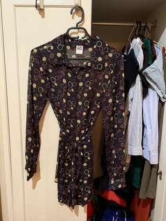 🚚 [二手] Vera Moda 雪紡紗 長版襯衫 襯衫洋裝