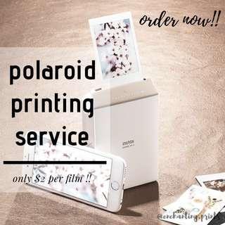 polaroid printing service