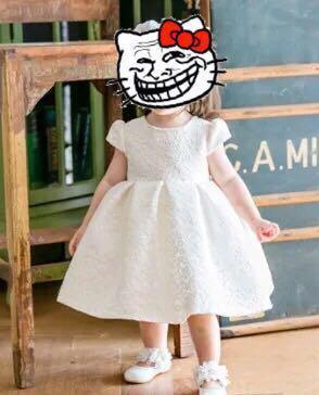 婚紗料花女裙90碼