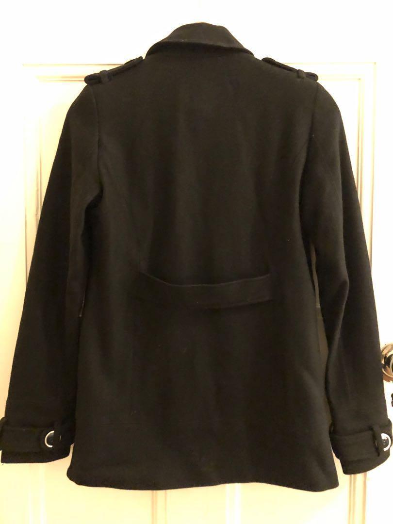 Asos Woolblend Jacket Blazer Coat Jacket Black Size 6-8