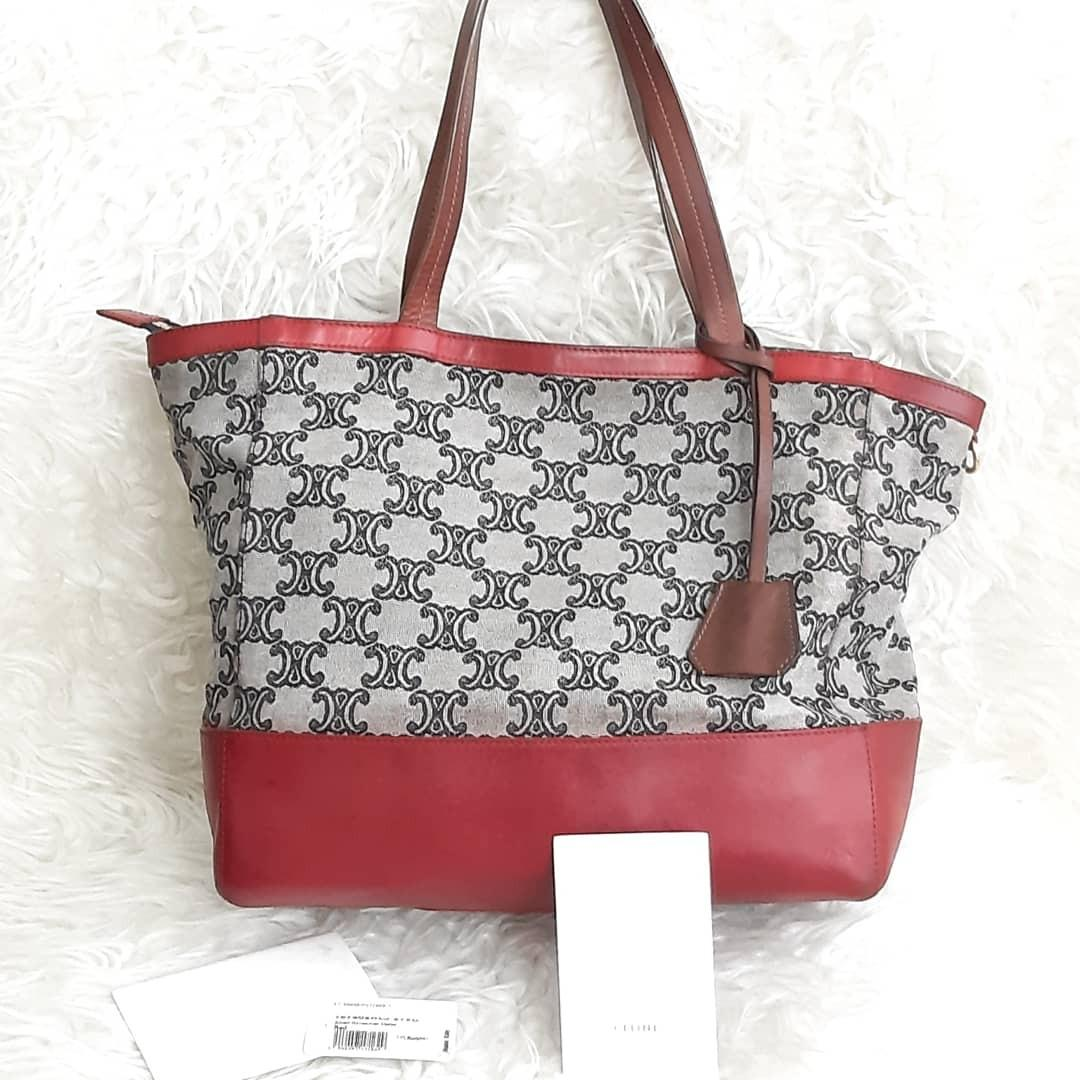 Authentic Celine Cabas Tote Shopping bag🍀🐥🍒🍍🌸 2nd bag in Good Condition Sudah di spaa.. very clean💝💌💜