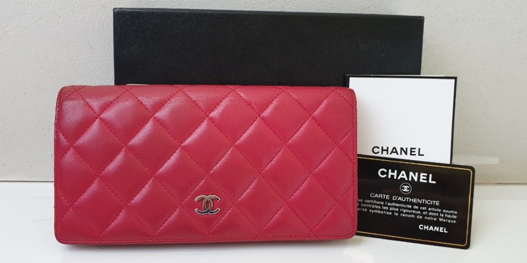 469ae52ab670 AUTHENTIC CHANEL WALLET CRIMSON PINK, Luxury, Bags & Wallets ...