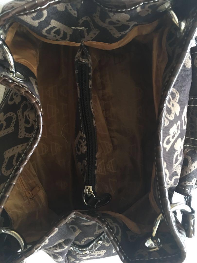 Authentic Kathy Van Zeeland Designer Brown Logo Handbag