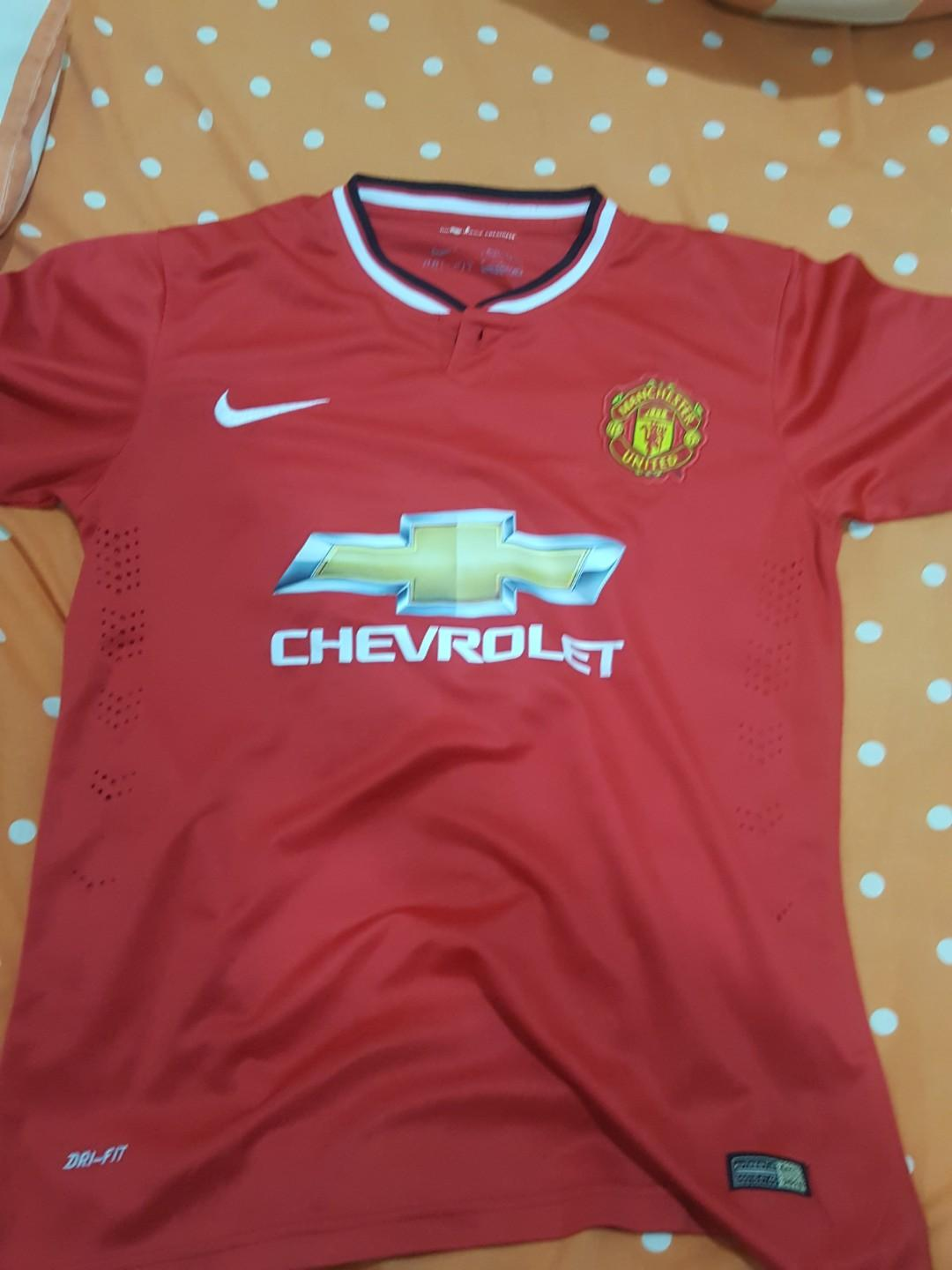 new style c7550 9e92b Baju Manchester United Home Jersey 2014/2015, Sports ...