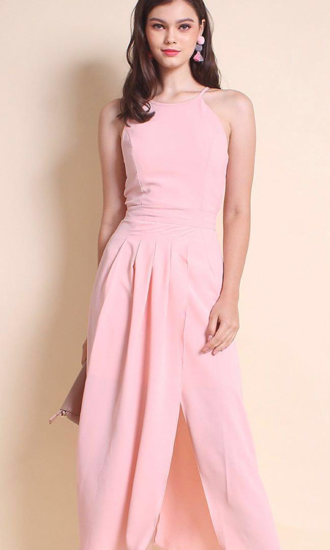 *BRAND NEW Neonmello Overlapping Maxi Dress in grey