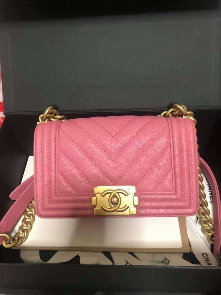 2e3acfcad4e94f Chanel Boy Caviar Leather Small size, Luxury, Bags & Wallets, Handbags on  Carousell