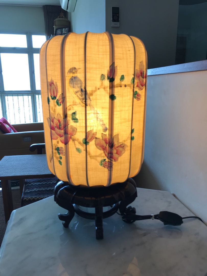 Chinese Lantern Table Lamp Furniture Home Decor Lighting Supplies On Carousell