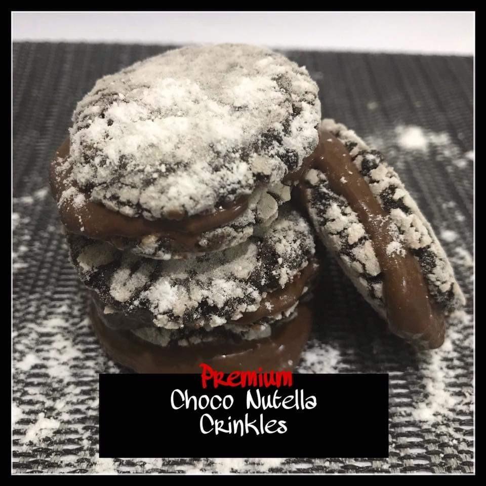 Choco Nutella Crinkles