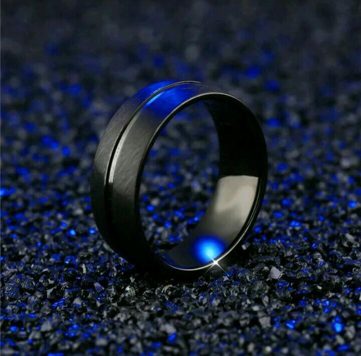 Cincin Tungsten 8mm Black Doff Titanium