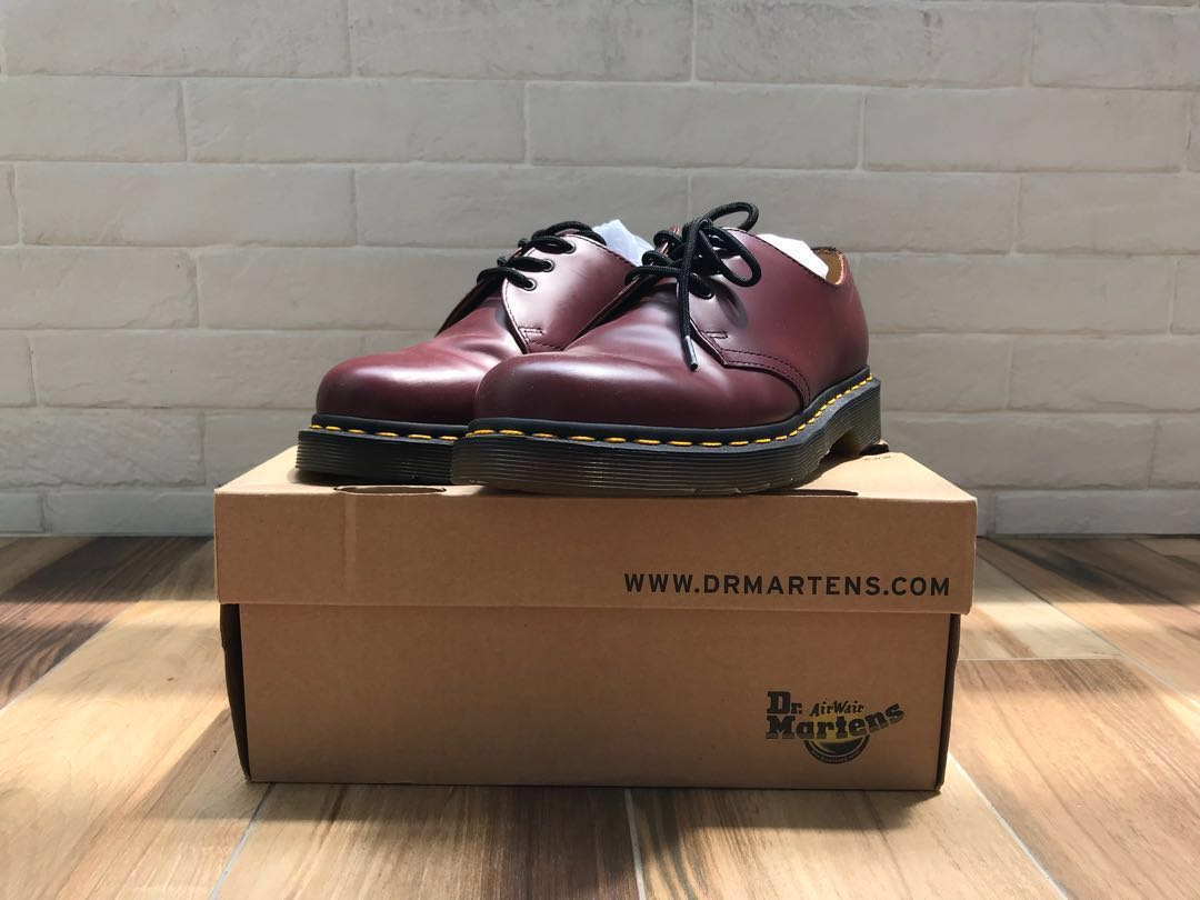 on feet shots of new photos sells Dr Martens 1461 59 (Cherry Red Rouge)