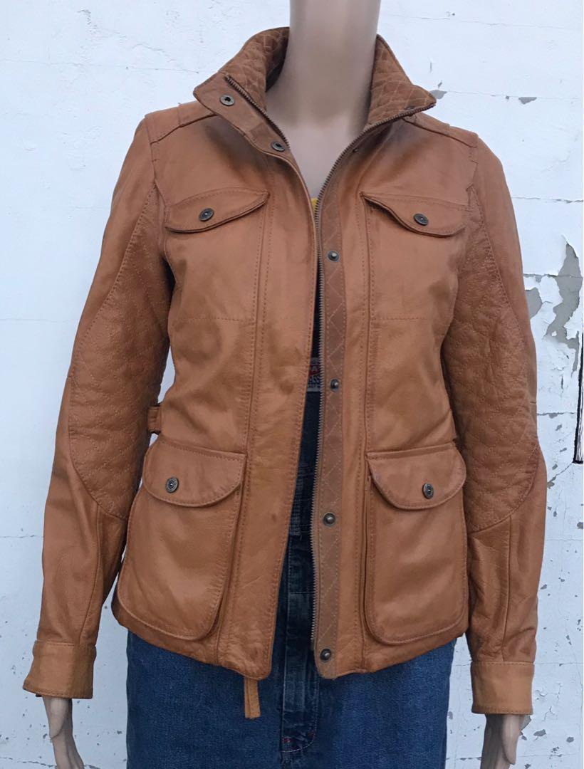 Eddie Bauer Leather Motorcycle Jacket