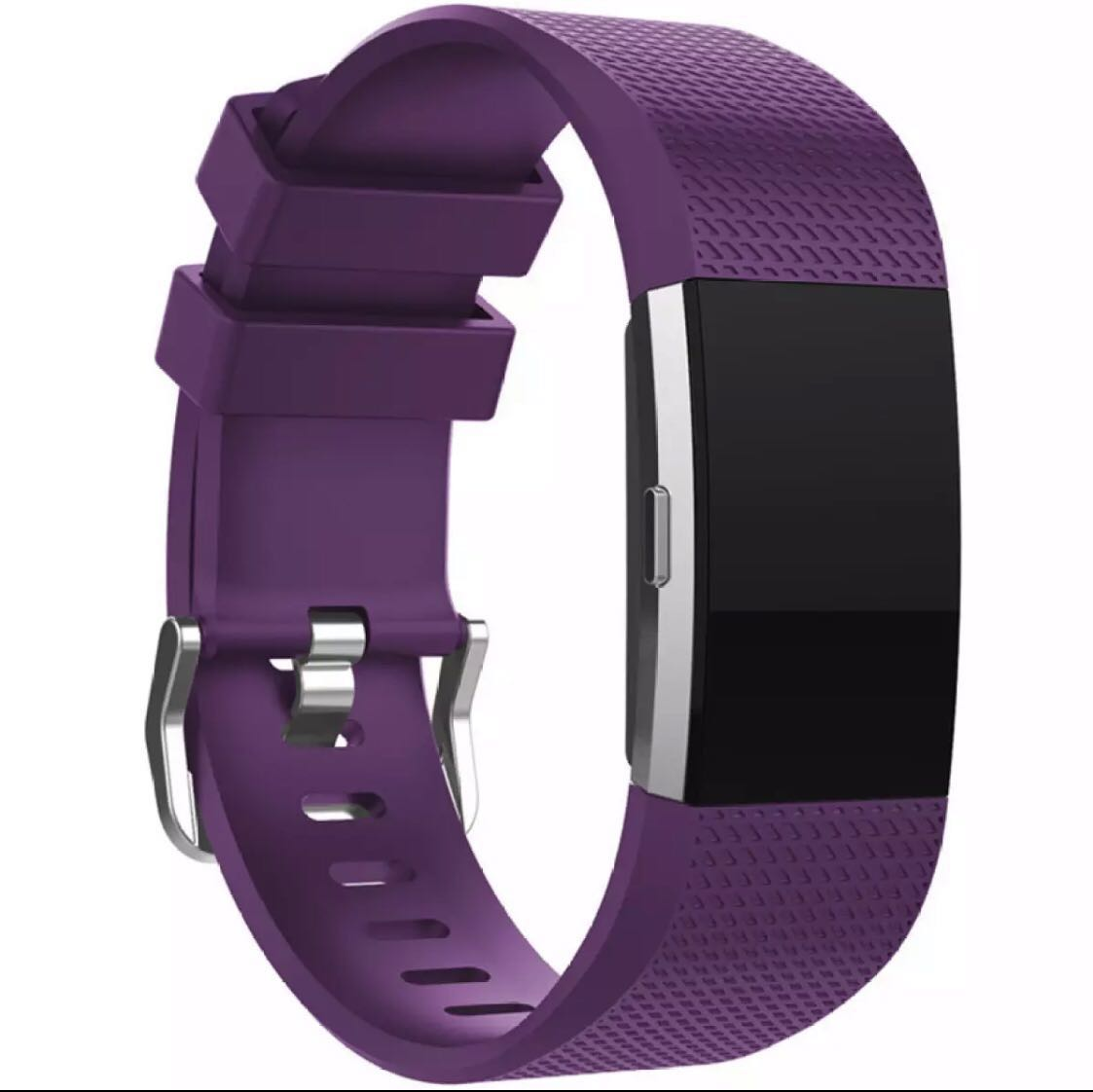 Fitbit Charge 2 Strap Band Silicone Adjustable - Purple - More Colours in  Shop