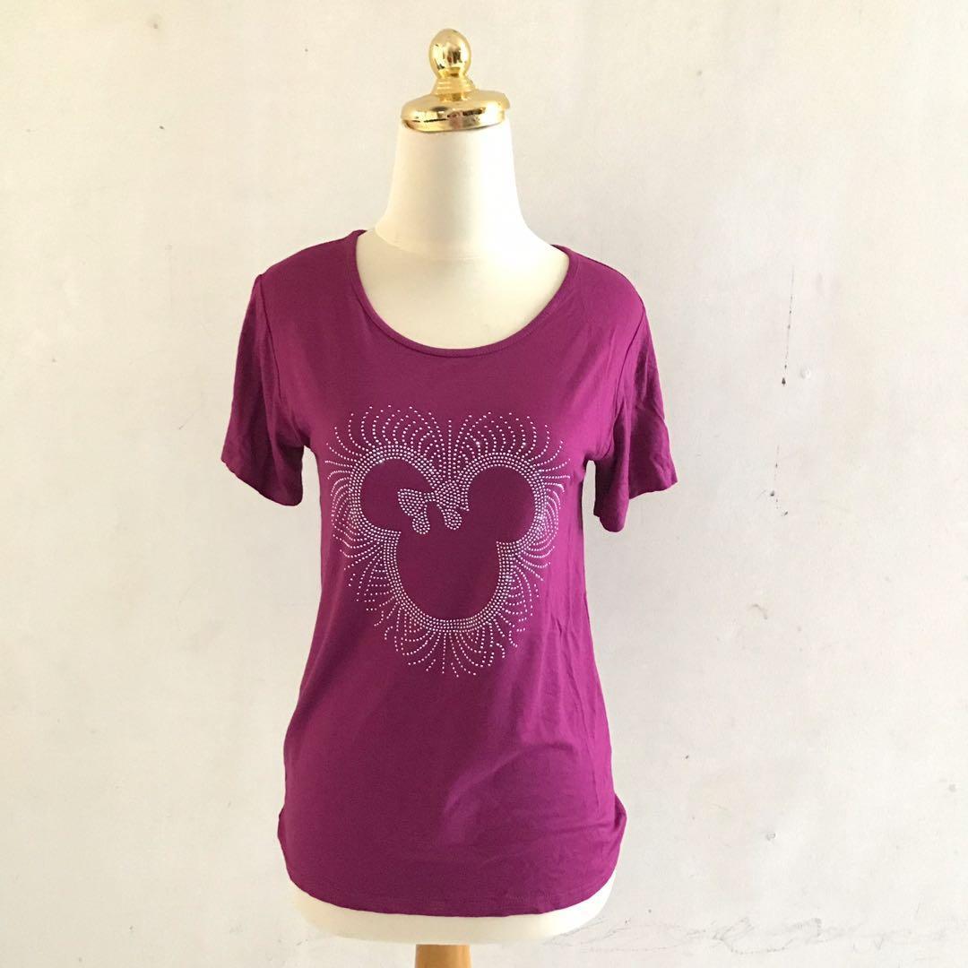 Fuschia Minimouse Stretch T shirt