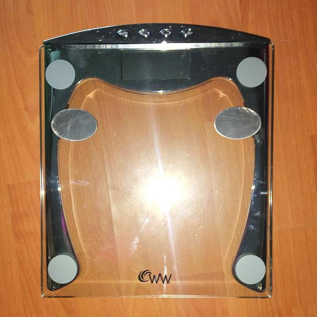 Glass Weight Watchers Scale