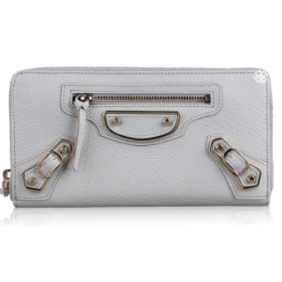 GUARANTEED AUTHENTIC BNIB Balenciaga Classic Zip Around Chevre Wallet for Women