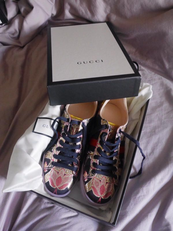 5aeabaac67d Gucci Ace Metallic Brocade Sneakers