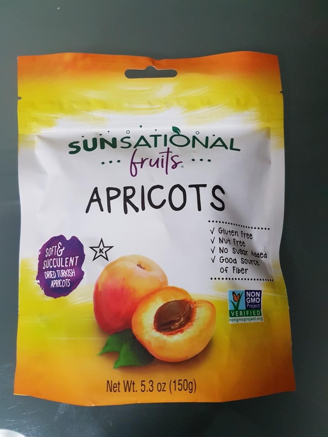 Healthy snack- dried Apricots new sealed 150gm - product of