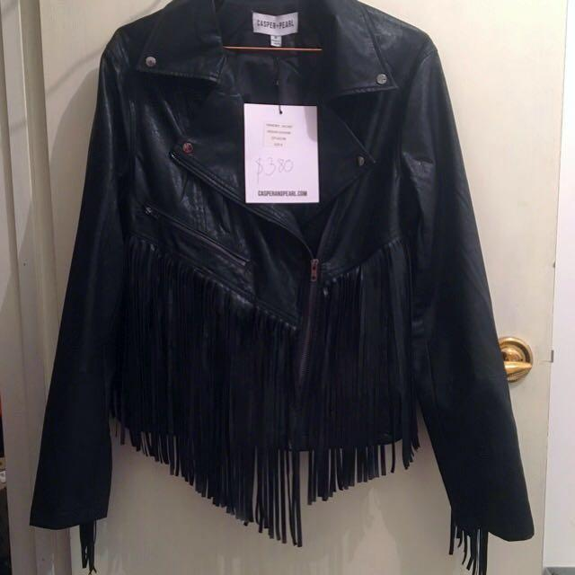 """Hendrix"" Vegan Leather Jacket"