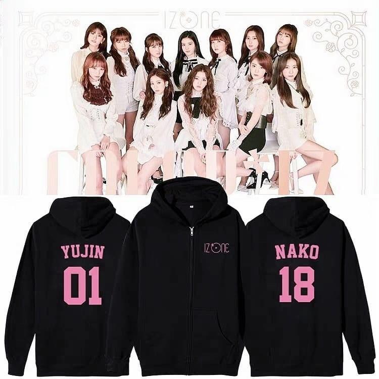 IZONE Debut Member Support Tee Sweater Hoodie Jacket
